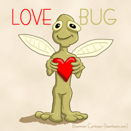 Love Bug by Bearman Cartoons