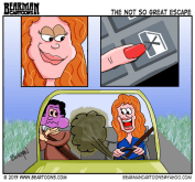 5-15-13-Dialogue-Free-Comic Day Cartoon Car Farts by Bearman Cartoons