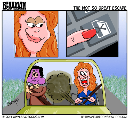 5-15-13-Dialogue-Free-Comic Day Cartoon Car Farts by Bearman Cartoons