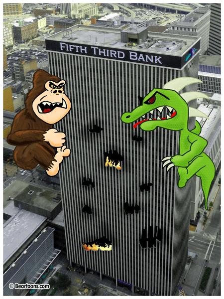 Rampage Cincinnati by Bearman Cartoons