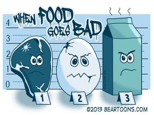 When Food Goes Bad by Bearman Cartoons