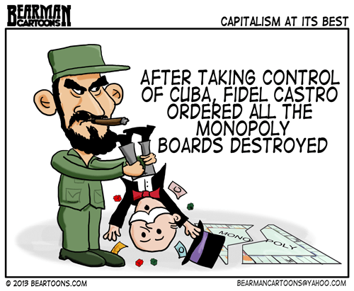 Bearman Cartoons Fidel Castro Destroys Monopoly Boards