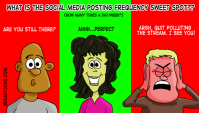 What is the Social Media Sweet Spot for Post Frequency by Bearman Cartoons