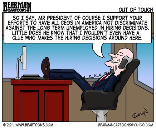 1-29-Bearman-Cartoon-President-Obama-CEO-Unemployment