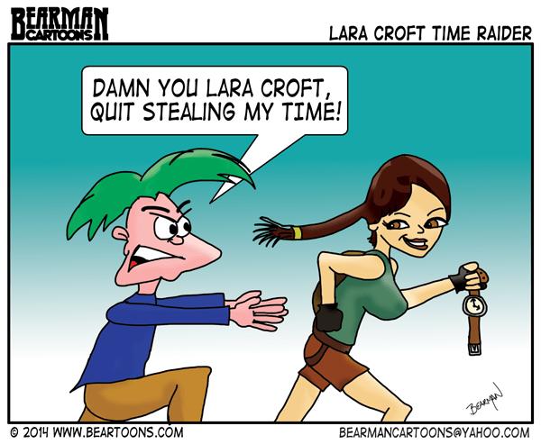 Lara Croft Time Raider by Bearman Cartoons
