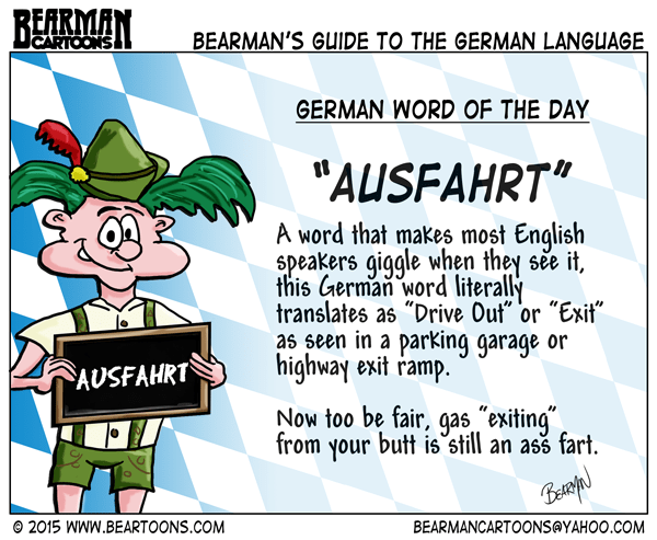 8-12-15-Bearman-Cartoon-German-Language-Ausfahrt