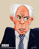 Bernie Sanders Caricature Bearman Cartoons