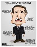The Anatomy of Ted Cruz Parody Caricature Bearman Cartoons