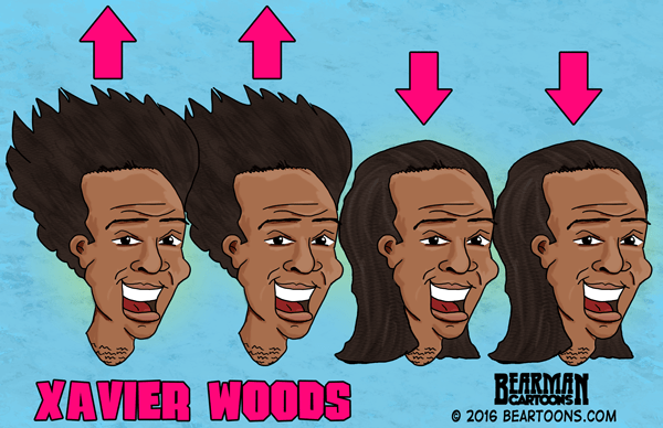 Xavier Woods Cartoon Up Up Down Down Bearman Cartoons