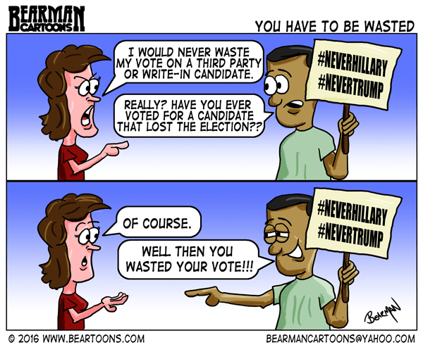 Editorial Cartoons Wasted Vote