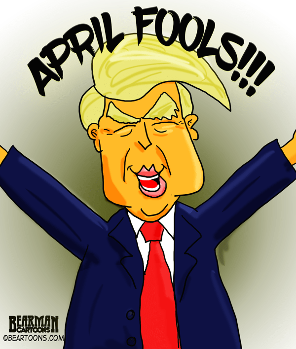 Image result for happy april fool with trump's