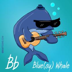 B is for Blue Whale Bearman Cartoons