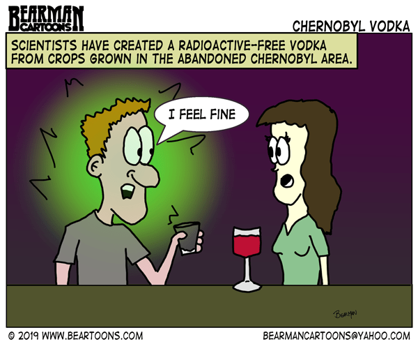 chernobyl Vodka Cartoon