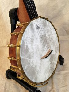 Banjo #005 – Sapele / Wenge with brass rod tone ring