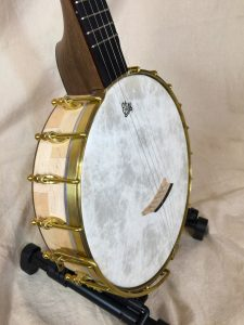 Banjo #006 – Hard Maple / Black Walnut / Wenge with Dobson tone ring