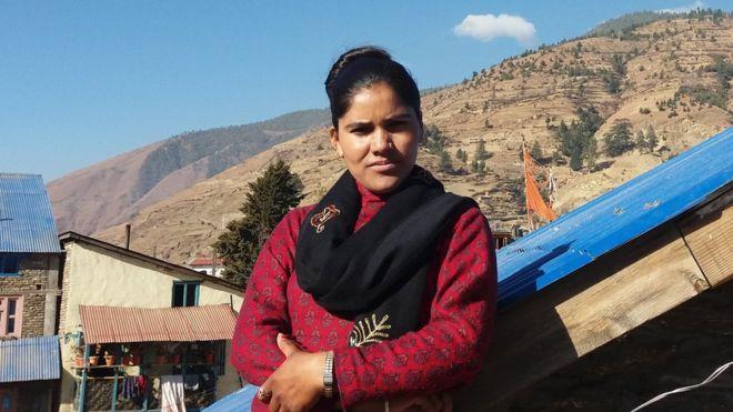 Krishnamaya in her village, where she has challenged traditional attitudes to menstruating women - be artsy