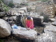 After the menstruation they have to clean everything in a separate water tap