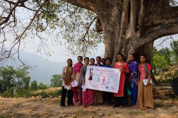 22 Oligaun Part of the women group after menstrual cup training