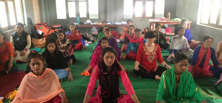 Achham, formació de les instructores i mentores per als tallers 2019