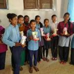 Mangalsen. The girls received menstrual cups and training