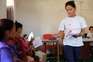 Women group in Oligaun
