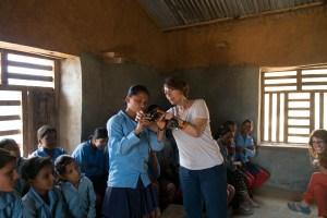 Manisha and Clara in a photography class.