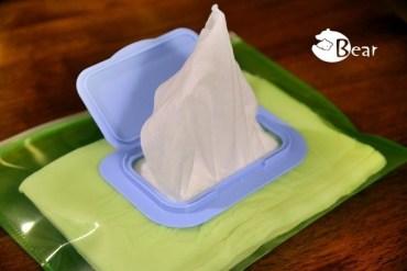 【育兒DIY】小熊寶的超低成本濕紙巾盒與攜帶式濕紙巾袋