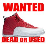 "AIR JORDAN 12 RETRO ""GYM RED/WHITE"""