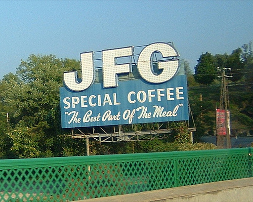 Cool coffee billboard, Knoxville