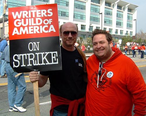 "Oscar-winning ""Crash"" writer/director Paul Haggis and me outside FOX Studios (Nov. 9, 2007)"