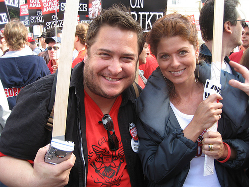 Me & Debra Messing @ Hollywood Rally (Nov. 20, 2007)