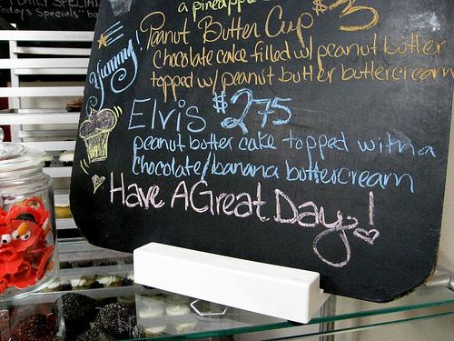 Elvis cupcakes at Yummy Cupcakes, Burbank!