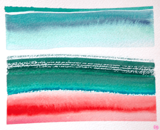 gouache stripes almost landscape 1A