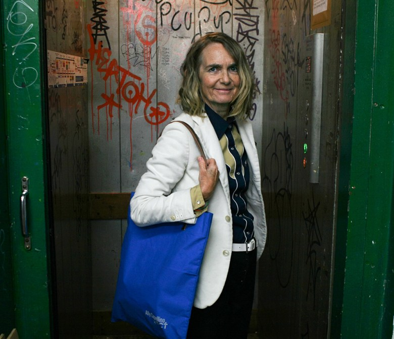 Ally Capellino and charity tote bag
