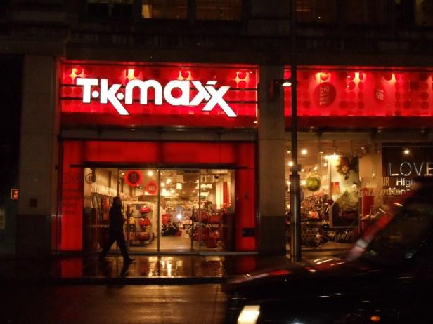 Instead of a TJ Maxx, they have TK Maxx!