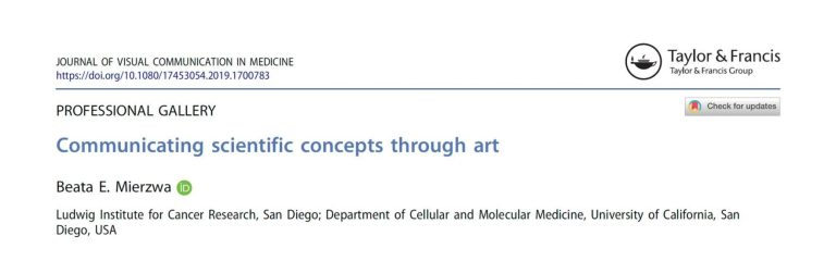 New publication – communicating scientific concepts through art