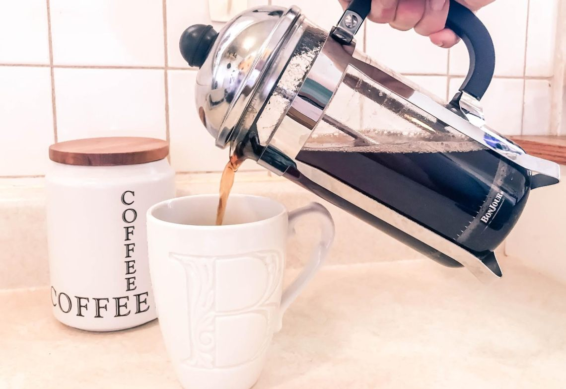 French Press morning coffee