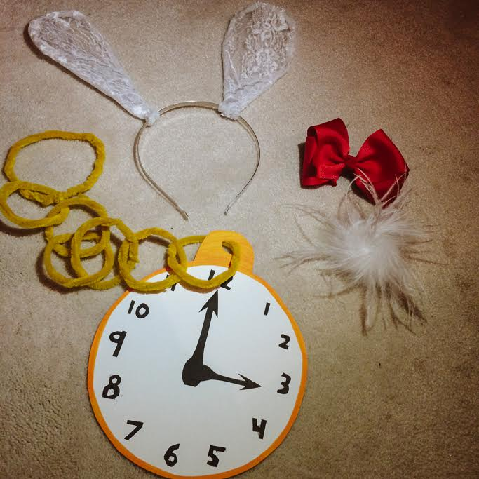 White Rabbit homemade costume pieces