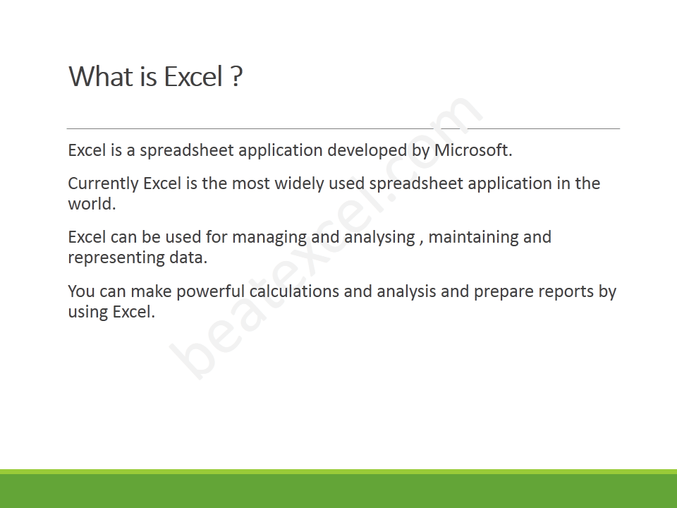 Excel Crash Course - Slide3