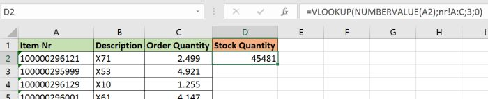 Search number values in texts and text in number values