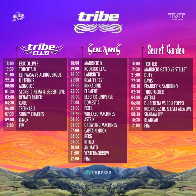 Tribe Origens Lineup