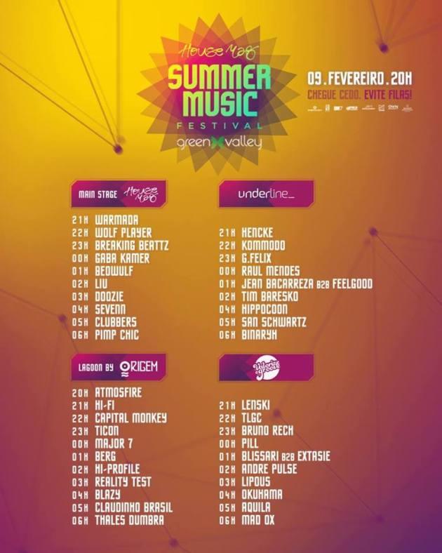 Summer Music Festival lineup