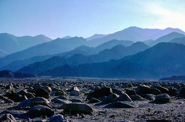 Ladakh Landscape in the morning mist