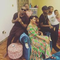 Olamide, Lil Kesh Pictured With 'King Gucci' Elegushi & His Family At 'Ojude Oba' In Ijebu