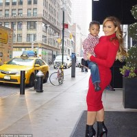 50 Cent's Baby Mama Steps Out With Son, Sire in New York (Photos)