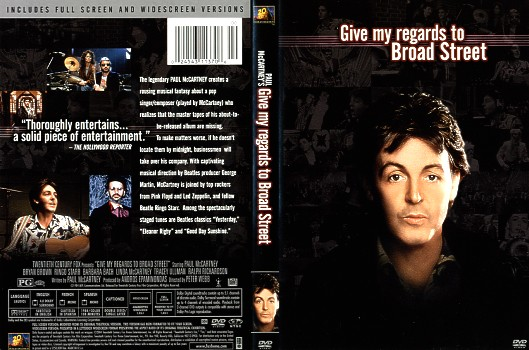 Laser Disc Paul McCartney Dvd Give My Regards To Broad