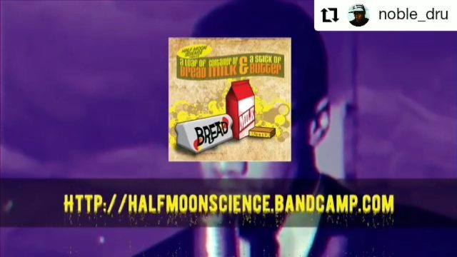 @noble_dru • • • • • • Grab this joint at http://halfmoonscience.bandcamp.com Click link in bio.