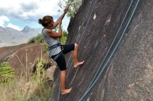 Barefoot Rock Climbing Girls