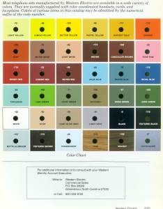 also western electric products telephones color charts chart rh beatriceco