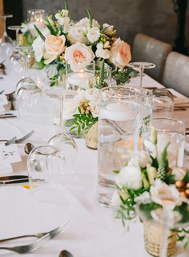 A table from a wedding held at Ristorante Beatrice.